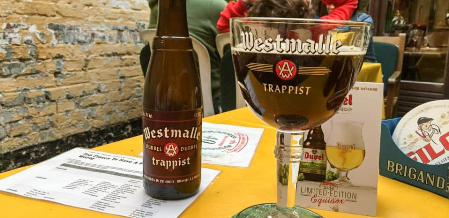 Westmalle Dubbel from 2003 at Kulminator, Antwerp
